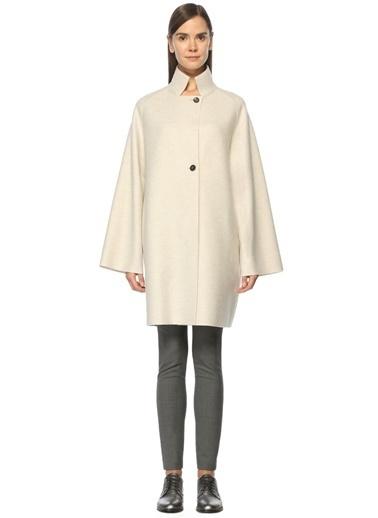 Harris Wharf London %100 Yün Palto Ekru